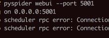 【未解决】PySpider中更换Webui界面的端口