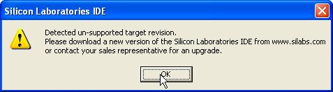 【已解决】Silicon Laboratories IDE出错:Detected un-supported target version - carifan - work and job