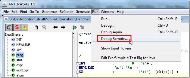run debug remote